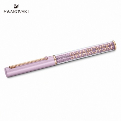 施華洛世奇 Crystalline Gloss 玫金色丁香紫圓珠筆