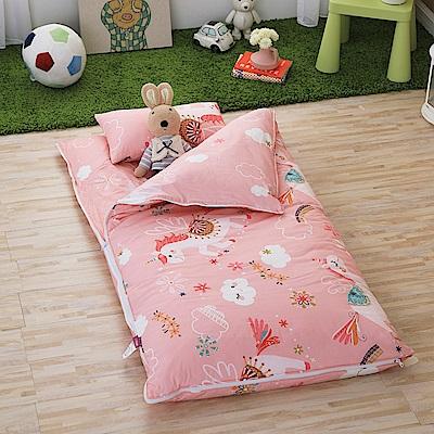 IN HOUSE-快樂獨角獸(粉)-200織紗精梳棉-兒童睡袋