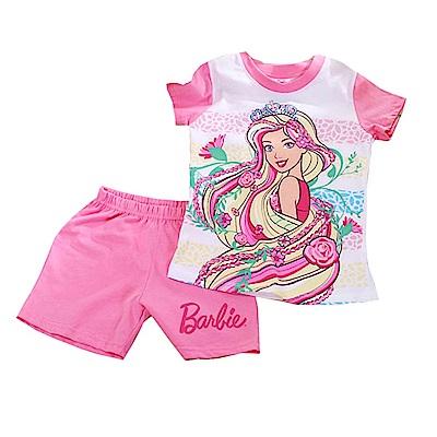 芭比純棉防蚊布短袖套裝 桃 k50342 魔法Baby