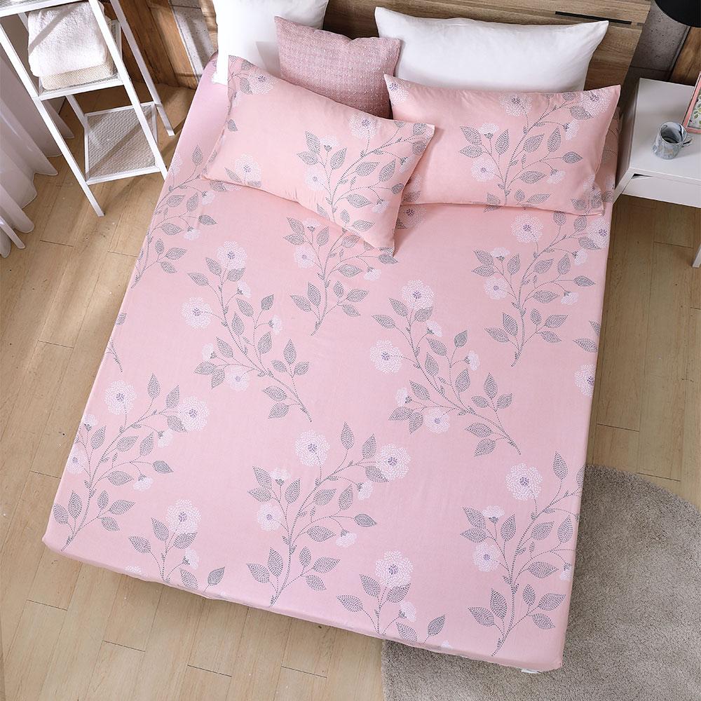 DESMOND岱思夢 雙人 天絲床包枕套三件組(3M專利吸濕排汗技術) 盛夏派對-粉