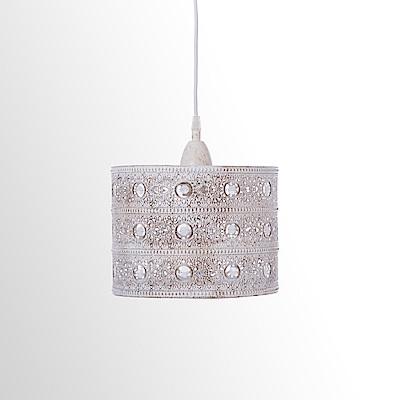 米白仿舊歐式花紋吊燈 BNL00038