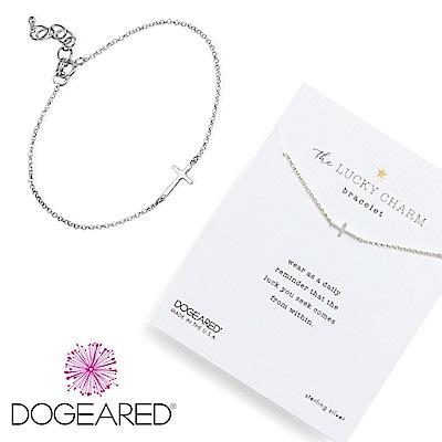 Dogeared 十字架 小墜橫式 Faith basic cross銀色許願手鍊附原廠盒