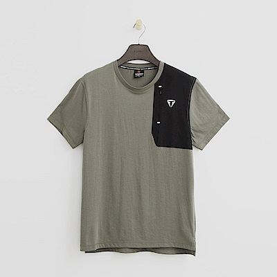Hang Ten - 男裝 - Thermo Contro 拼接造型T恤-綠色