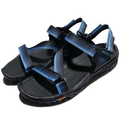 Merrell 涼鞋 All Out Blaze Web 男鞋 外出 耐磨 黃金大底 織帶 夏日 透氣 藍 黑 ML37645