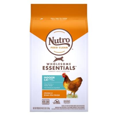 Nutro 美士 全護營養 室內成貓配方(農場鮮雞+糙米)5磅 2包組