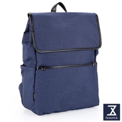 74盎司 Tidy簡約素色後背包[G-1066-TI-M]藍