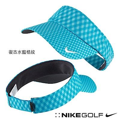 Nike Golf 格紋可調式運動遮陽帽 藍 639630-407