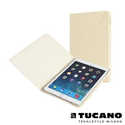 TUCANO iPad Air2 Angolo 時尚可站立式皮革紋保護套-米白