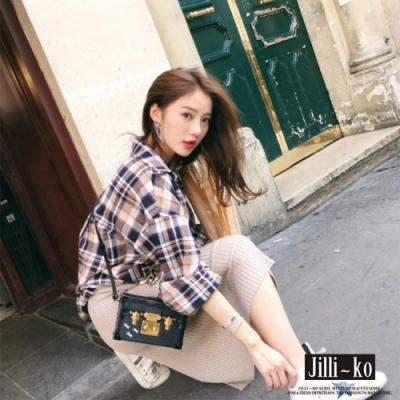 JILLI-KO 韓版時尚色織格子襯衫- 格子