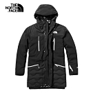 The North Face北面男款黑色防水保暖戶外羽絨外套|3VSMJK3