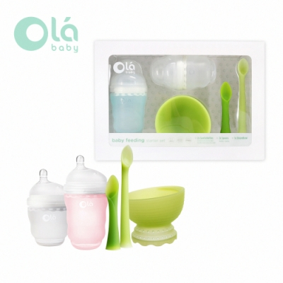 美國 Olababy 小幼苗新生哺育禮盒-兩色可選
