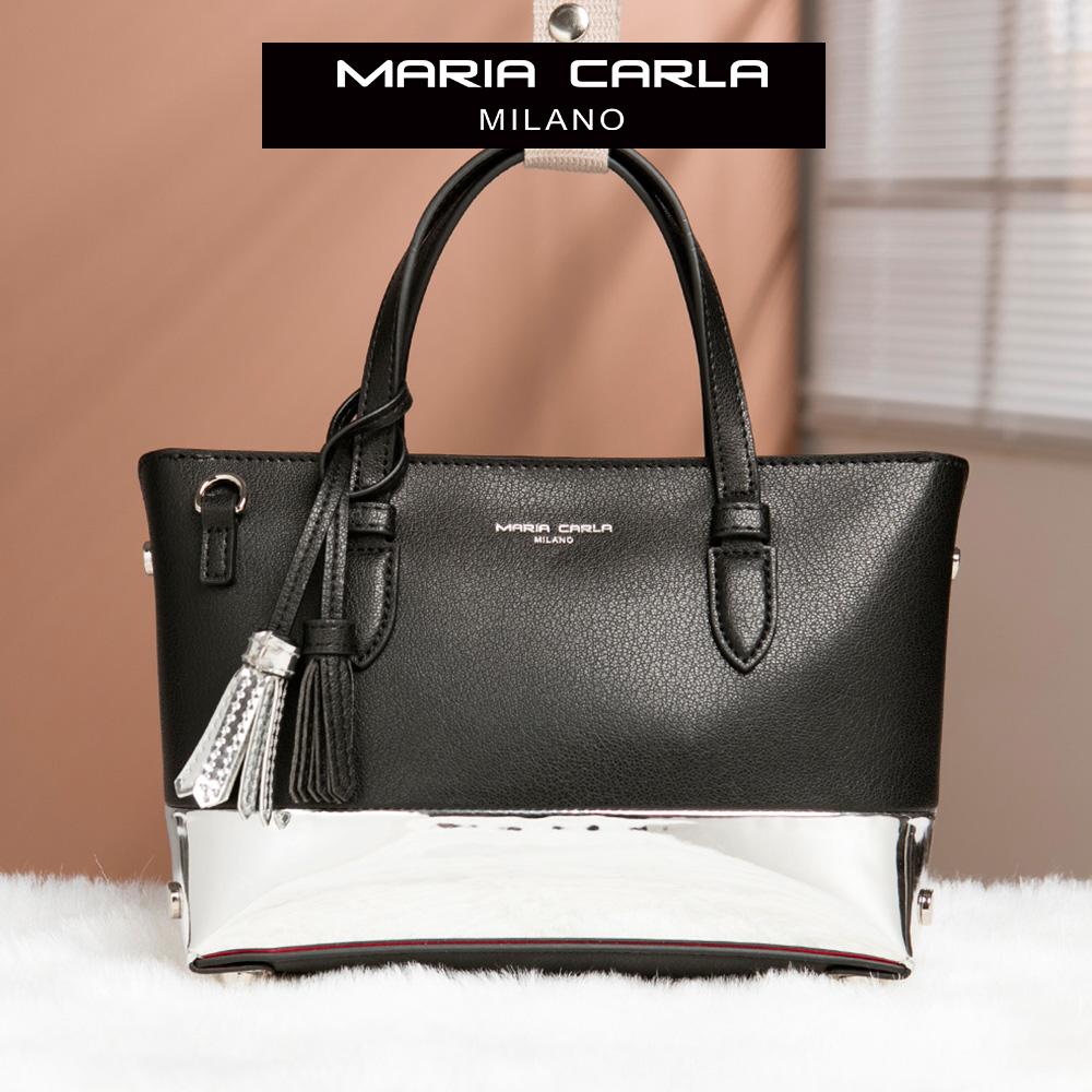 Maria Carla 手提側背包-牛皮小托特_知性OL、清新朝氣系列(特殊色-星空黑)
