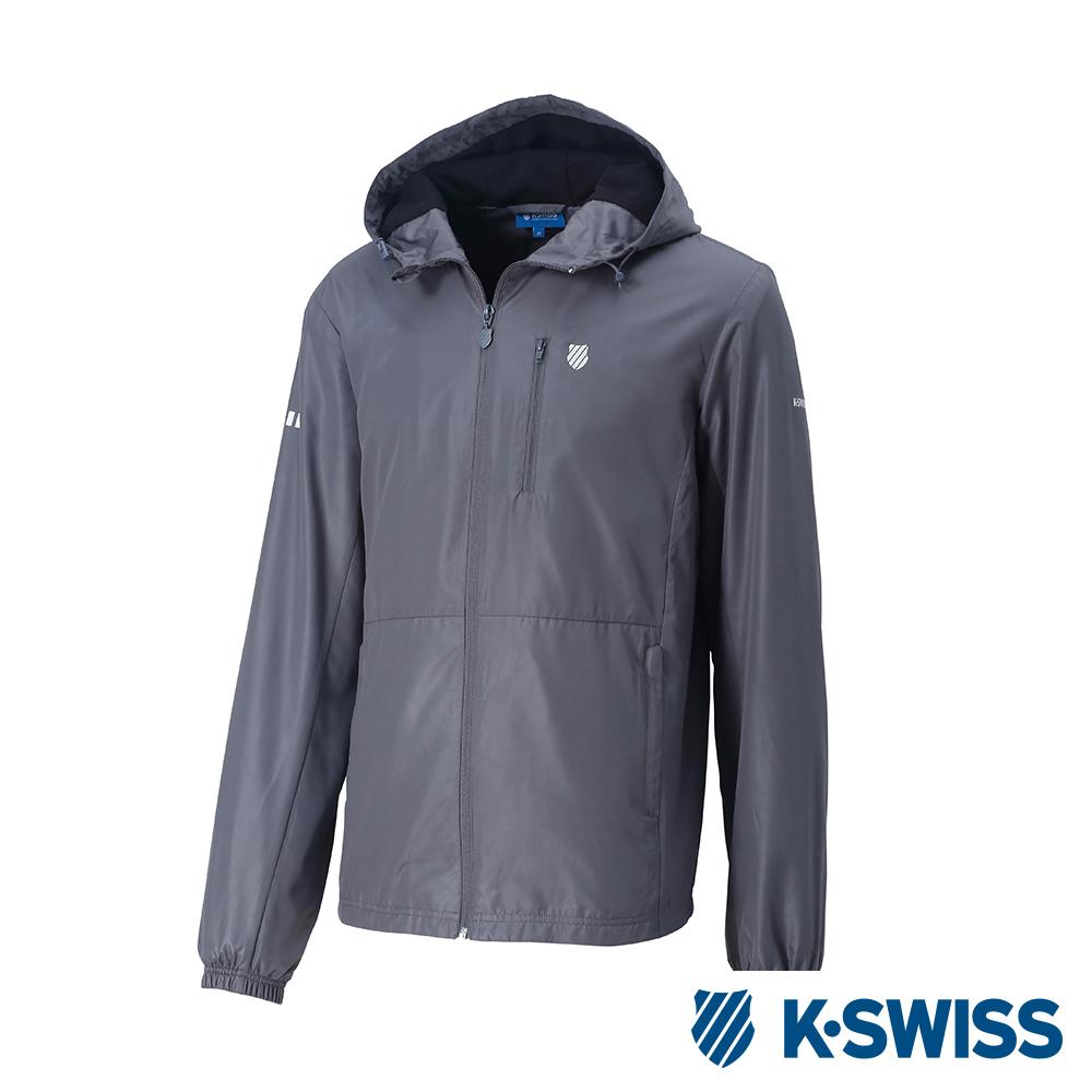 K-SWISS Solid F1刷毛風衣外套-男-灰