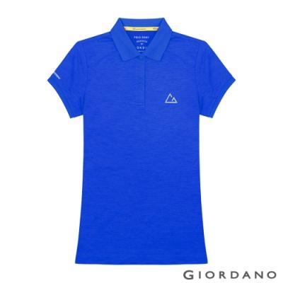 GIORDANO 女裝G-MOTION透氣排汗運動POLO衫-06 青金石藍