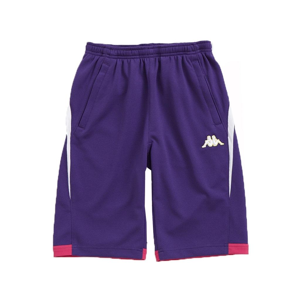 KAPPA義大利舒適時尚小朋友吸溼排汗針織半短褲1件~羅藍紫 白 櫻桃紅