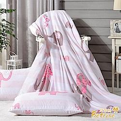 Betrise粉紅象園 環保印染德國防蹣抗菌天絲四季被5X6.5尺(加碼贈天絲枕套X2)
