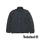 Timberland 男款黑色橫紋修身短款棉外套