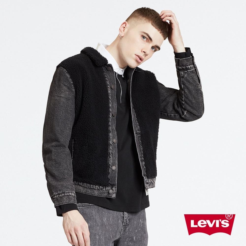 Levis 男款 牛仔外套 Type 3 經典修身版型 Sherpa棉花絨 毛料拼接
