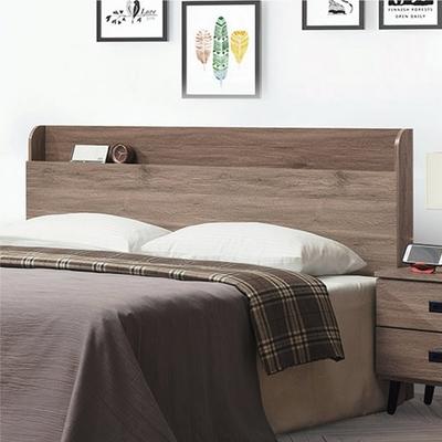 綠活居 威廉斯 現代5尺雙人床頭片(三色可選+不含床底+不含床墊)-152x14x106cm免組