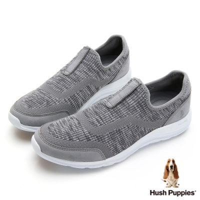 Hush Puppies  美型輕量針織職套式鞋-灰色