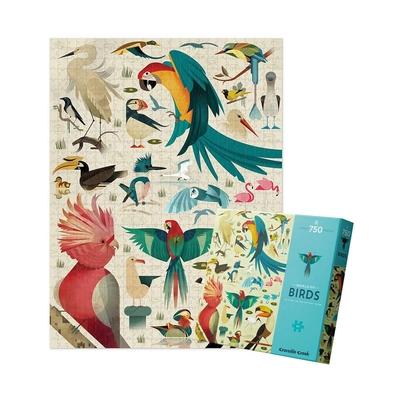 美國Crocodile Creek 動物圖鑑主題盒拼圖 - 鳥類世界