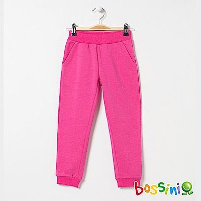 bossini女童-針織厚棉長褲01玫瑰色