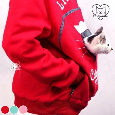 Catysmile 連帽兩用袋鼠衣 XL號