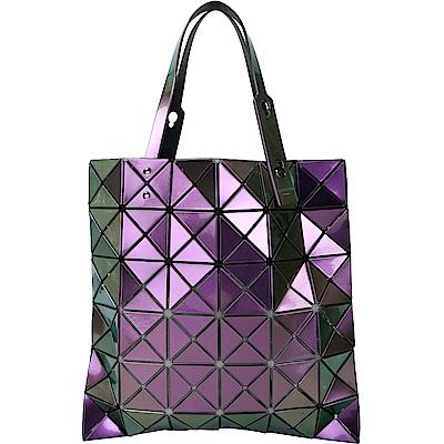 ISSEY MIYAKE 三宅一生 BAOBAO 6x6 霓光變色幾何手提包(金屬紫)