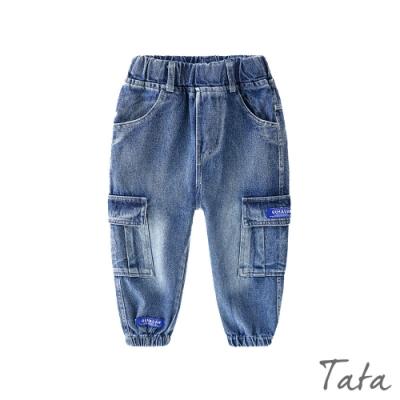童裝 水洗刷色牛仔束口褲 TATA KIDS