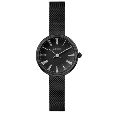 ADEXE 英國手錶 MINI SISTINE羅馬刻度 黑錶盤錶框米蘭錶帶30mm