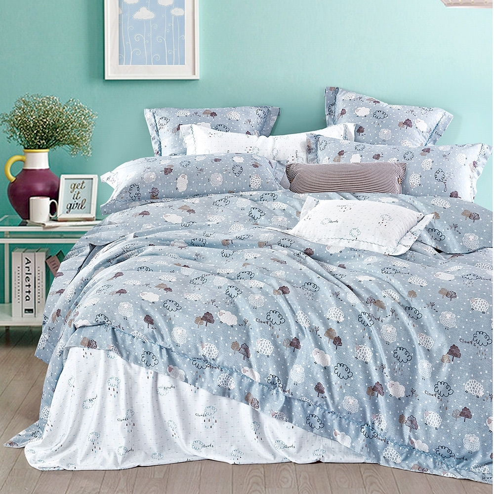 A-ONE 頂級天絲三件式-加大床包/枕套組-彩雲