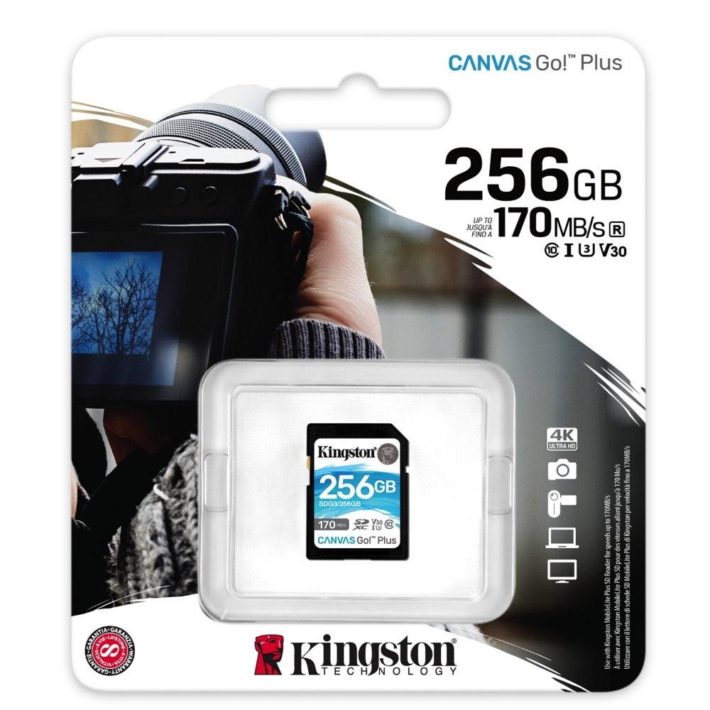 金士頓 KINGSTON SDG3 SDXC 170MB 256G U3 V30 A2 記憶卡