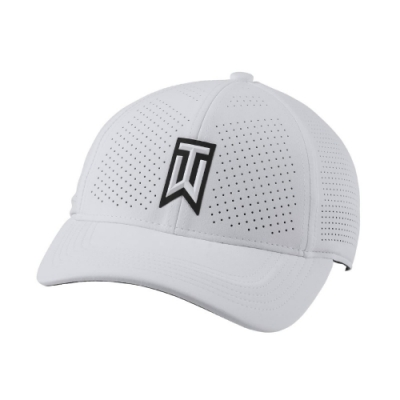 Nike 帽子 AeroBill Tiger Woods 男女 運動休閒 遮陽 高爾夫球 Golf Hat 白 黑 CW6792100