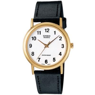 CASIO 首席經典簡約風數字時刻皮帶腕錶(MTP-1095Q-7B)/39mm