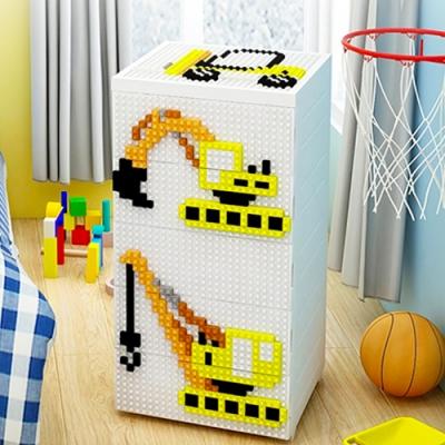 【時時樂限定】#限時回饋#免組裝高品質五層收納櫃-買再贈童趣積木-8款可選