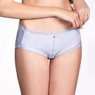 LADY 舞動月光系列  中腰平口褲(綠松藍)