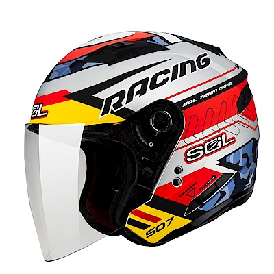 SOL SO-7  3/4  開放式安全帽 Racing 極速先鋒  (消光銀)