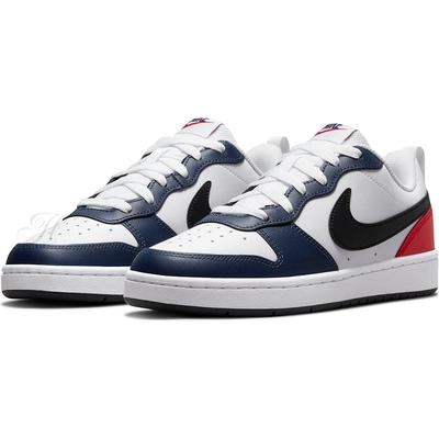 NIKE 耐吉 運動鞋 休閒鞋 皮革 女鞋 大童鞋 白藍紅 DO7446101 COURT BOROUGH LOW 2 BG