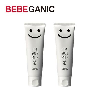 BEBEGANIC 韓國 寶寶微笑無氟牙膏 100g-苺果口味(2入)
