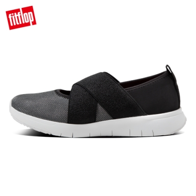 FitFlop SPORTY CROSS-OVER BALLERINAS休閒鞋-女(黑色)