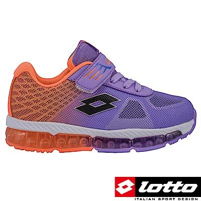 LOTTO 義大利 童  避震跑鞋 (紫/粉橘)
