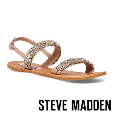 STEVE MADDEN-LUSINE 鑽飾雙帶平底涼鞋-粉色