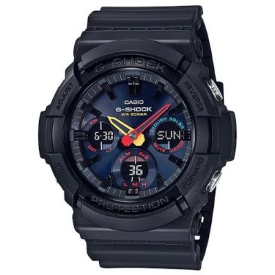 G-SHOCK 未來世界霓虹科技設計感太陽能雙顯錶(GAS-100BMC-1A)-/52.5mm