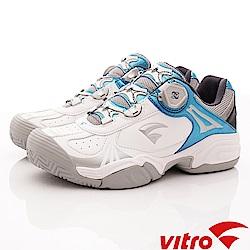 Vitro韓國專業運動品牌-RECOVER頂級網球鞋-藍白(男)