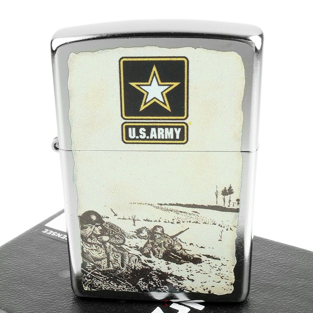 ZIPPO 美系~U.S. Army-美國陸軍圖案設計打火機