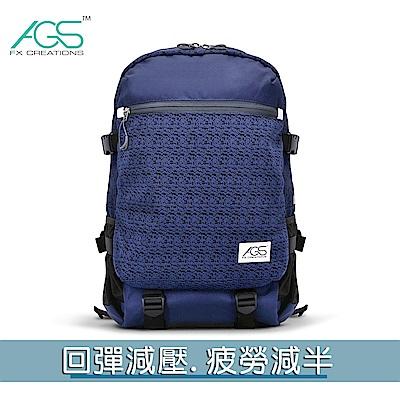 FCB 15.6吋AGS回彈減壓電腦後背包-藍色  FCB69903A-98