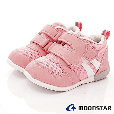 日本月星頂級童鞋 HI系列3E穩定款 ON114粉(寶寶段)