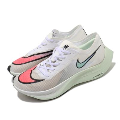 Nike 慢跑鞋 Vaporfly Next 男女鞋 ZoomX 避震 路跑 馬拉松 透氣 白 紅 AO4568102