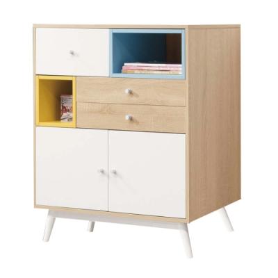 文創集 哈斯現代雙色2.7尺三抽置物櫃/收納櫃-80x40x95cm免組