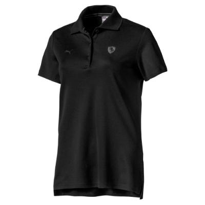 PUMA-女性法拉利經典系列短袖Polo衫-黑色-歐規